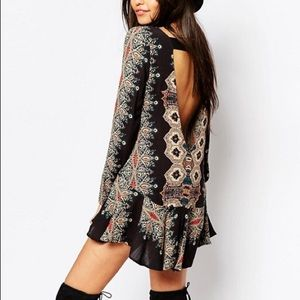 Free People Smooth Talker Open Back Tunic XS